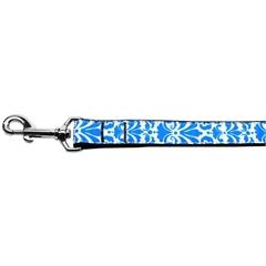 Mirage Pet Products Damask Nylon Dog Leash 6 Foot Blue
