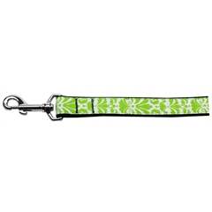 Mirage Pet Products Damask Nylon Dog Leash 4 Foot Lime Green