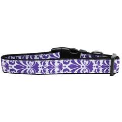 Mirage Pet Products Damask Nylon Dog Collar Large Purple