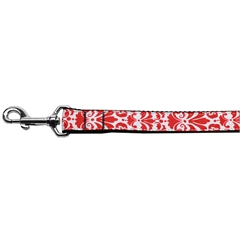 Mirage Pet Products Damask Nylon Dog Leash 4 Foot Red