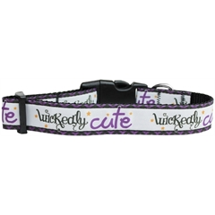 Mirage Pet Products Wickedly Cute Nylon Dog Collar Large