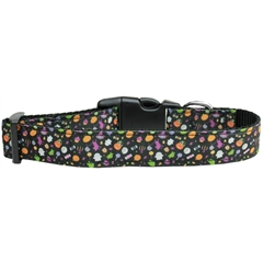 Mirage Pet Products Halloween Confetti Nylon Dog Collar Large