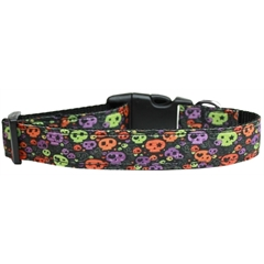 Mirage Pet Products Confetti Skulls Nylon Dog Collar Large