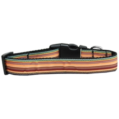 Mirage Pet Products Autumn Stripes Nylon Dog Collar Medium