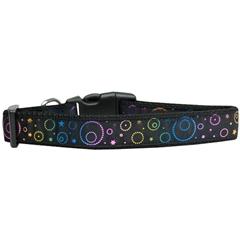 Mirage Pet Products Galactic Shimmer Nylon Dog Collar Large