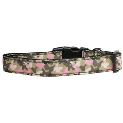 Mirage Pet Products Camo Butterflies Nylon Dog Collar Large