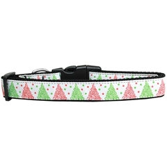 Mirage Pet Products Fancy Schmancy Christmas Tree Nylon Dog Collar Large