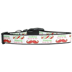 Mirage Pet Products Stashing through the Snow Nylon Dog Collar Large