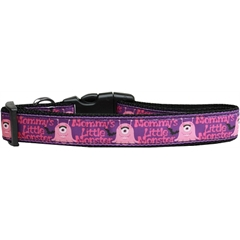 Mirage Pet Products Mommy's Little Monster Nylon Dog Collar Large