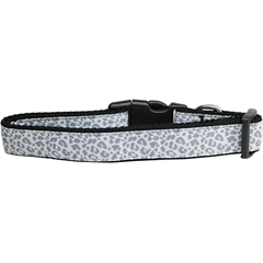 Mirage Pet Products Silver Leopard Nylon Dog Collar Large