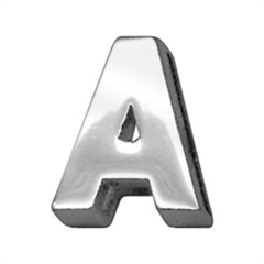 """Mirage Pet Products 3/4"""" (18mm) Chrome Letter Sliding Charms A 3/4'' (18mm)"""