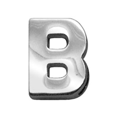 """Mirage Pet Products 3/4"""" (18mm) Chrome Letter Sliding Charms B 3/4'' (18mm)"""