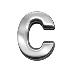 """Mirage Pet Products 3/4"""" (18mm) Chrome Letter Sliding Charms C 3/4'' (18mm)"""