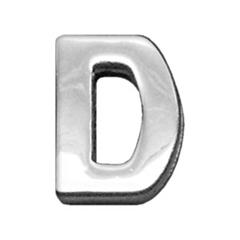 "Mirage Pet Products 3/4"" (18mm) Chrome Letter Sliding Charms D 3/4'' (18mm)"