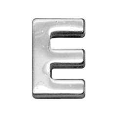 "Mirage Pet Products 3/4"" (18mm) Chrome Letter Sliding Charms E 3/4'' (18mm)"