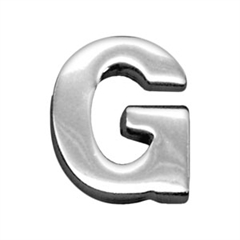 """Mirage Pet Products 3/4"""" (18mm) Chrome Letter Sliding Charms G 3/4'' (18mm)"""