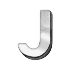 "Mirage Pet Products 3/4"" (18mm) Chrome Letter Sliding Charms J 3/4'' (18mm)"