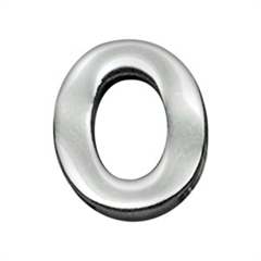 """Mirage Pet Products 3/4"""" (18mm) Chrome Letter Sliding Charms O 3/4'' (18mm)"""