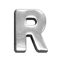 """Mirage Pet Products 3/4"""" (18mm) Chrome Letter Sliding Charms R 3/4'' (18mm)"""