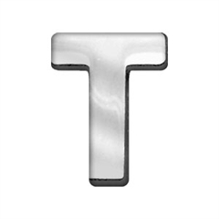 """Mirage Pet Products 3/4"""" (18mm) Chrome Letter Sliding Charms T 3/4'' (18mm)"""