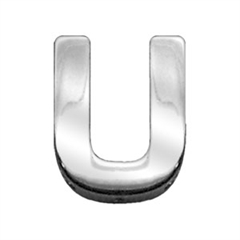 """Mirage Pet Products 3/4"""" (18mm) Chrome Letter Sliding Charms U 3/4'' (18mm)"""