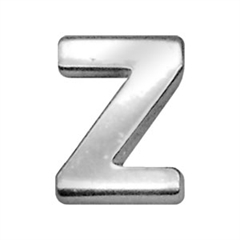 "Mirage Pet Products 3/4"" (18mm) Chrome Letter Sliding Charms Z 3/4'' (18mm)"