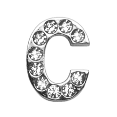 """Mirage Pet Products 3/4"""" (18mm) Clear Letter Sliding Charms C 3/4 (18mm)"""