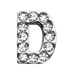 "Mirage Pet Products 3/4"" (18mm) Clear Letter Sliding Charms D 3/4 (18mm)"