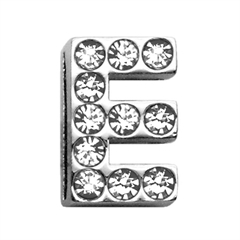 "Mirage Pet Products 3/4"" (18mm) Clear Letter Sliding Charms E 3/4 (18mm)"