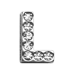 """Mirage Pet Products 3/4"""" (18mm) Clear Letter Sliding Charms L 3/4 (18mm)"""