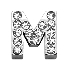 """Mirage Pet Products 3/4"""" (18mm) Clear Letter Sliding Charms M 3/4 (18mm)"""