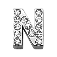 """Mirage Pet Products 3/4"""" (18mm) Clear Letter Sliding Charms N 3/4 (18mm)"""