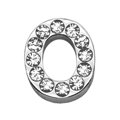 "Mirage Pet Products 3/4"" (18mm) Clear Letter Sliding Charms O 3/4 (18mm)"