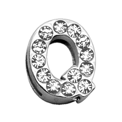 """Mirage Pet Products 3/4"""" (18mm) Clear Letter Sliding Charms Q 3/4 (18mm)"""