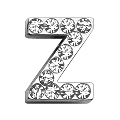 """Mirage Pet Products 3/4"""" (18mm) Clear Letter Sliding Charms Z 3/4 (18mm)"""