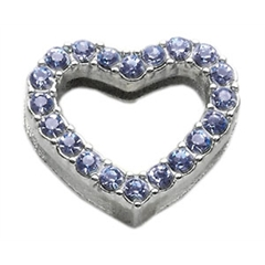 "Mirage Pet Products 3/4"" Slider Heart Charm Blue 3/4"" (18mm)"