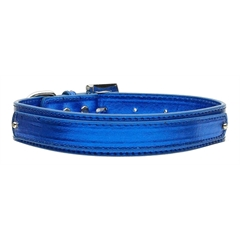"Mirage Pet Products 3/4"" (18mm) Metallic Two-Tier Collar  Blue Medium"