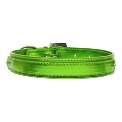 "Mirage Pet Products 3/4"" (18mm) Metallic Two-Tier Collar  Lime Green Large"