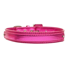 "Mirage Pet Products 3/4"" (18mm) Metallic Two-Tier Collar  Pink Medium"
