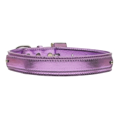 "Mirage Pet Products 3/4"" (18mm) Metallic Two-Tier Collar  Purple Large"