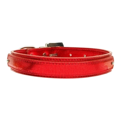 "Mirage Pet Products 3/4"" (18mm) Metallic Two-Tier Collar  Red Large"