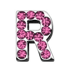 """Mirage Pet Products 3/4"""" (18mm) Pink Letter Sliding Charms R 3/4 (18mm)"""