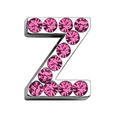 """Mirage Pet Products 3/4"""" (18mm) Pink Letter Sliding Charms Z 3/4 (18mm)"""