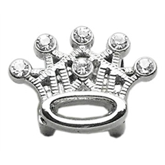 """Mirage Pet Products 3/8"""" Slider Crystal Crown Charm Clear 3/8"""""""
