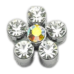 """Mirage Pet Products 3/8"""" Slider Flower Charm Clear 3/8"""