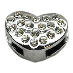 """Mirage Pet Products 3/8"""" Slider Puffy Heart Charm Clear -"""