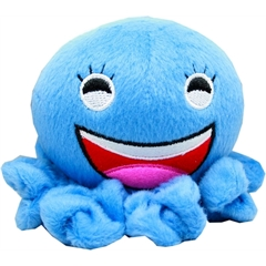 "Mirage Pet Products Octopus Squeaky 4"" Pet Toy Blue"