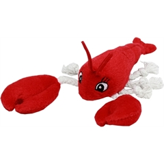 """Mirage Pet Products Squeaky Lobster 7"""" Plush Dog Toy"""