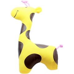 Mirage Pet Products Sweet Giraffe Plush Dog Toy Brown and Yellow