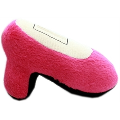 Mirage Pet Products High Heel Squeaky Pet Toy Bright Pink